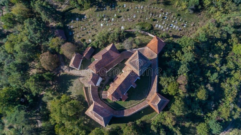 教会筑堡垒于的viscri 特兰西瓦尼亚,罗马尼亚, 库存照片
