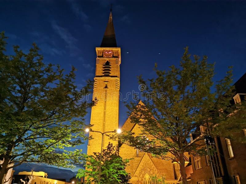 教会纳尔德韦克荷兰 免版税库存照片