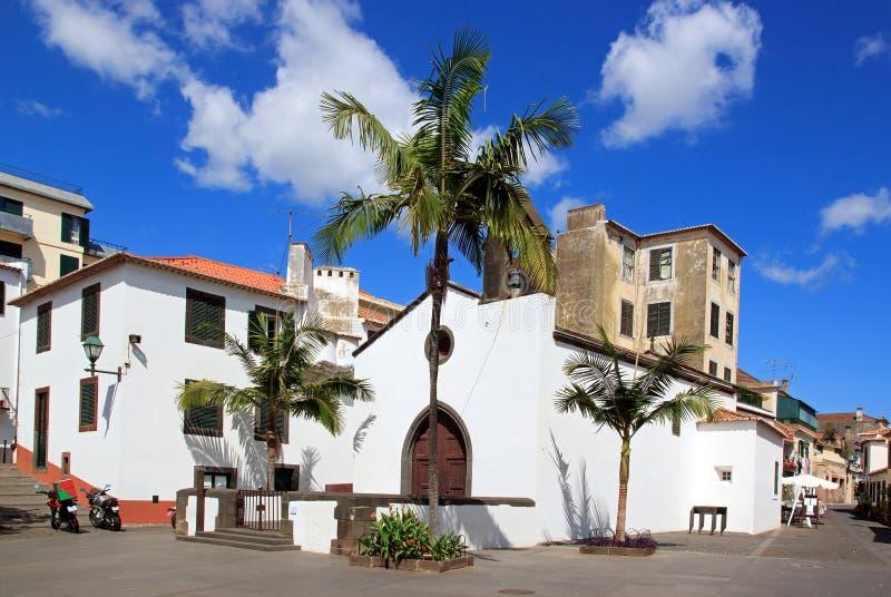 教会缓慢地corpo丰沙尔马德拉岛santo 免版税图库摄影