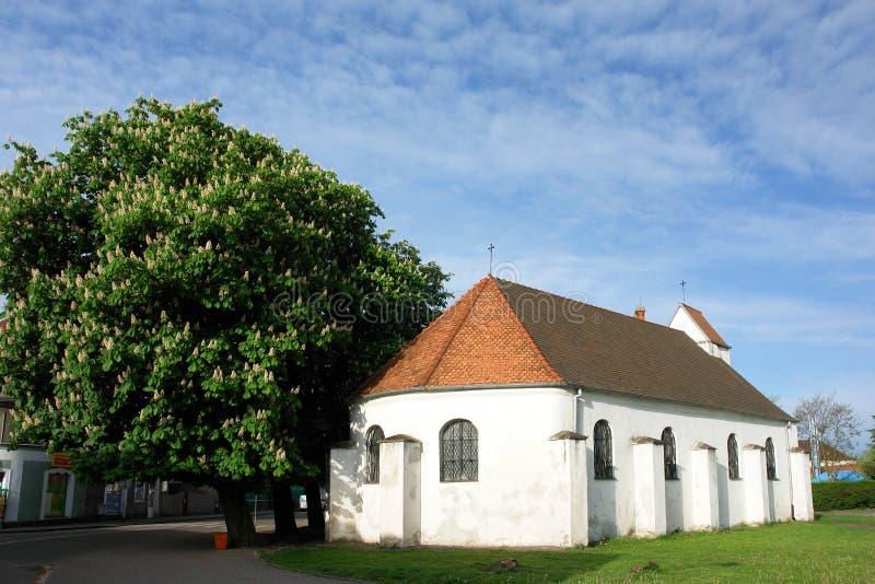 教会老波兰 库存图片