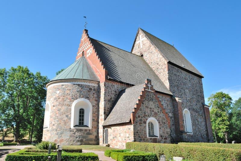 教会老瑞典乌普萨拉 免版税库存图片