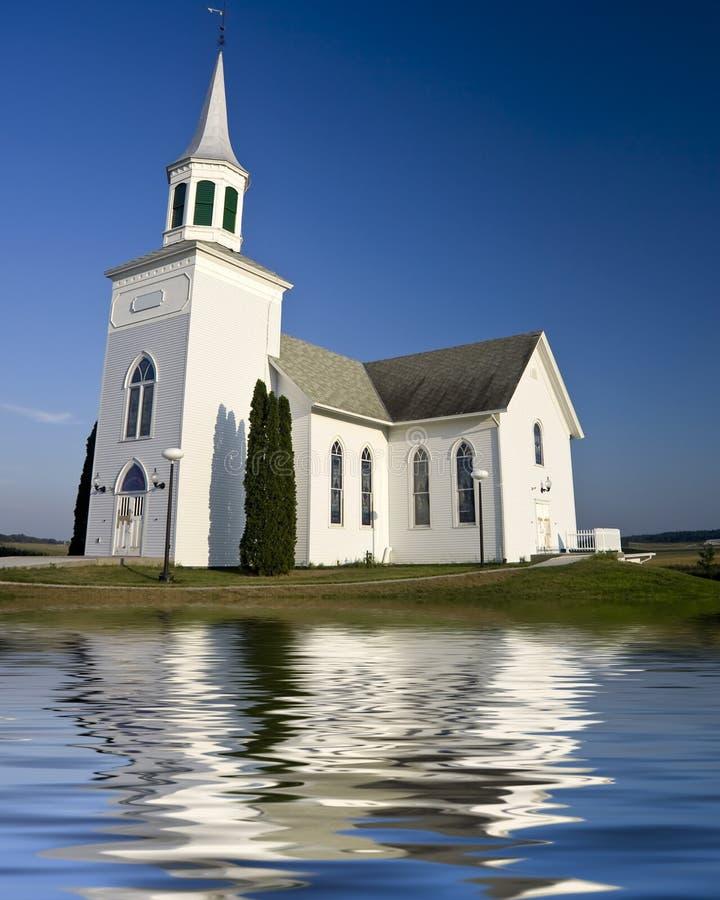 教会老白色 免版税库存照片