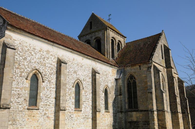 教会老seraincourt 库存图片