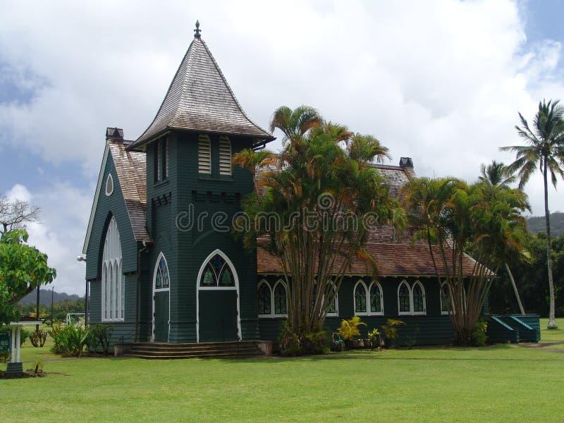 教会考艾岛 免版税库存照片