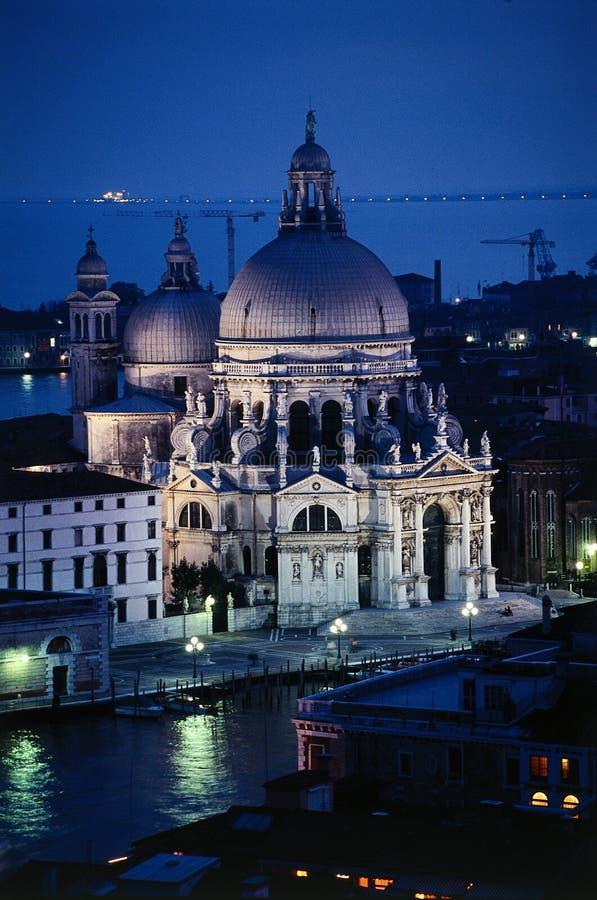 教会致敬威尼斯 库存照片