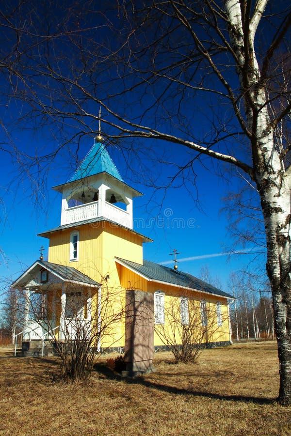 教会芬兰木 库存照片