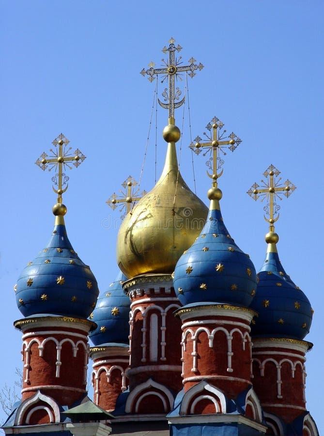 教会莫斯科 免版税库存图片