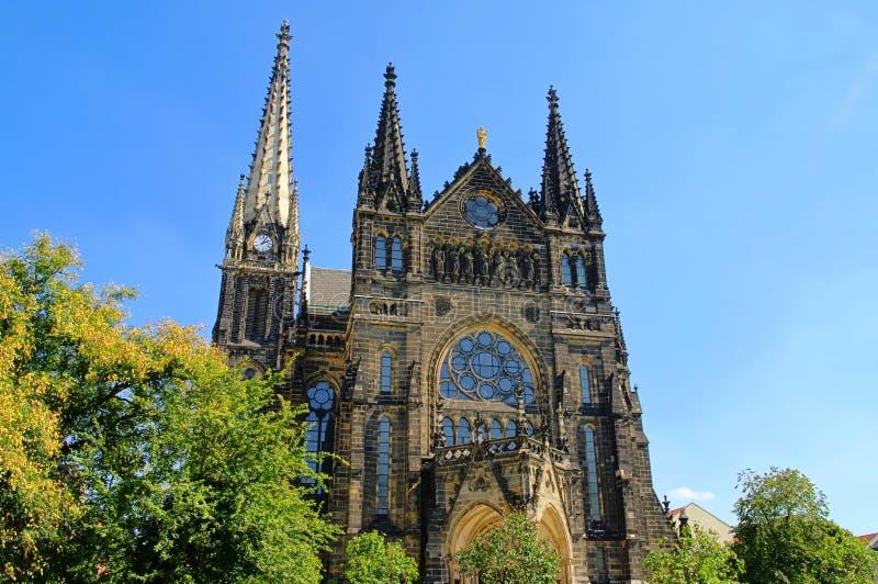 教会莱比锡peters 免版税库存照片