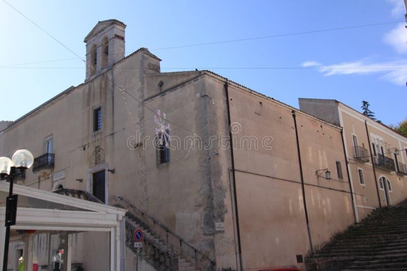 教会萨加门多蒙泰圣安杰洛福贾意大利 图库摄影