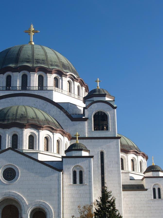 教会详细资料sava st 免版税库存图片