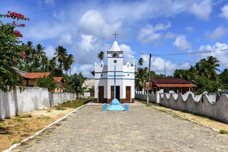 教会诺萨Senhora dos Navegantes, Pititinga (巴西) 库存照片