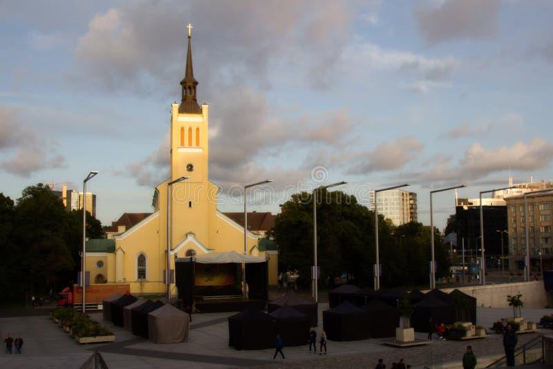 教会路德教会 免版税图库摄影