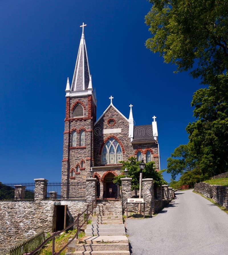 教会轮渡竖琴师国家公园石头 免版税库存照片
