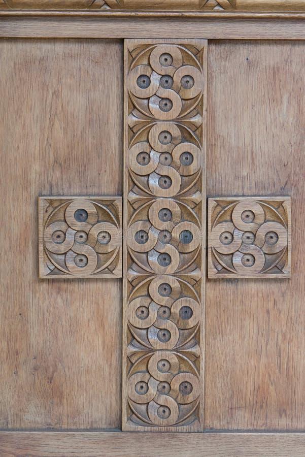 教会门装饰 库存图片