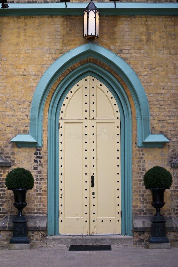 教会门道入口 库存图片