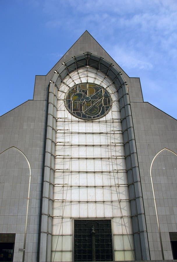 教会门面历史里尔 免版税库存照片