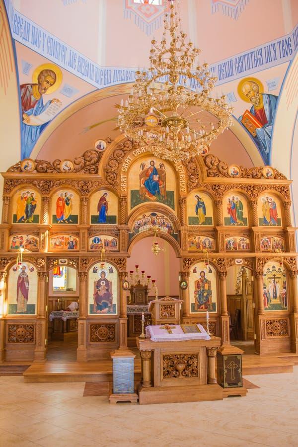 教会门马德里照片被采取的西班牙 库存照片