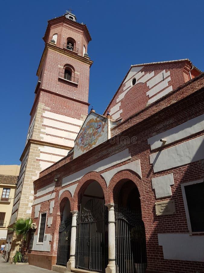 教会马拉加 免版税图库摄影