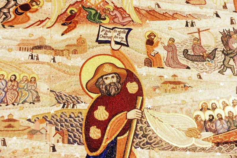 教会马赛克天花板 免版税库存图片