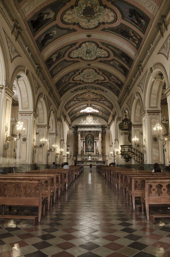 教会,圣地亚哥,辣椒 免版税库存图片