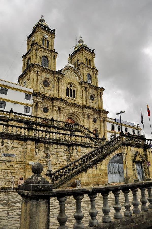教会,在Azogues,厄瓜多尔 免版税图库摄影