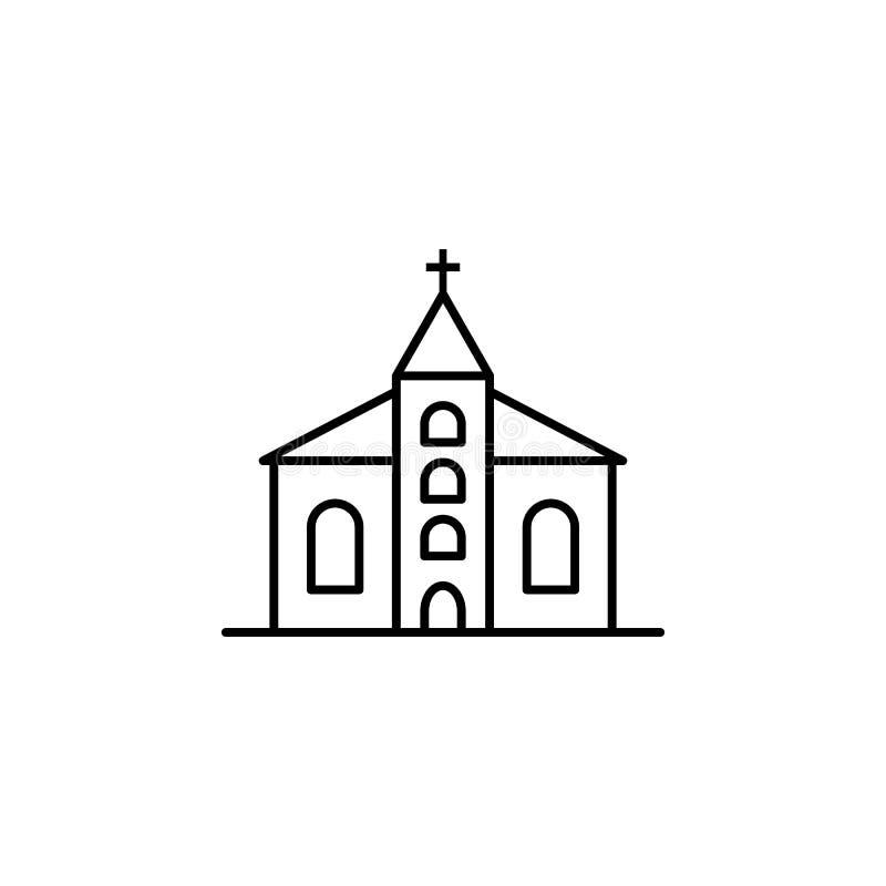 教会,死亡概述象 详细的套死亡例证象 E 向量例证
