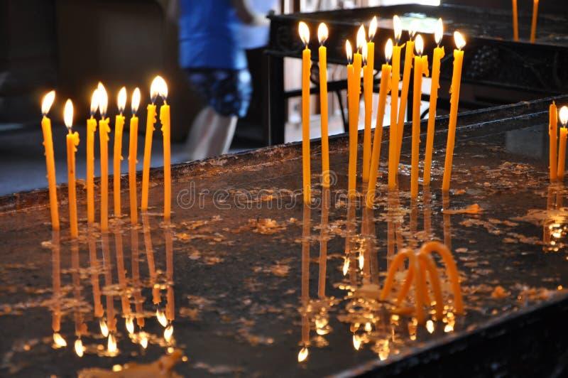 教会,蜡烛 免版税库存图片