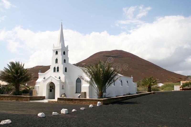 教会,阿森松岛 免版税库存照片