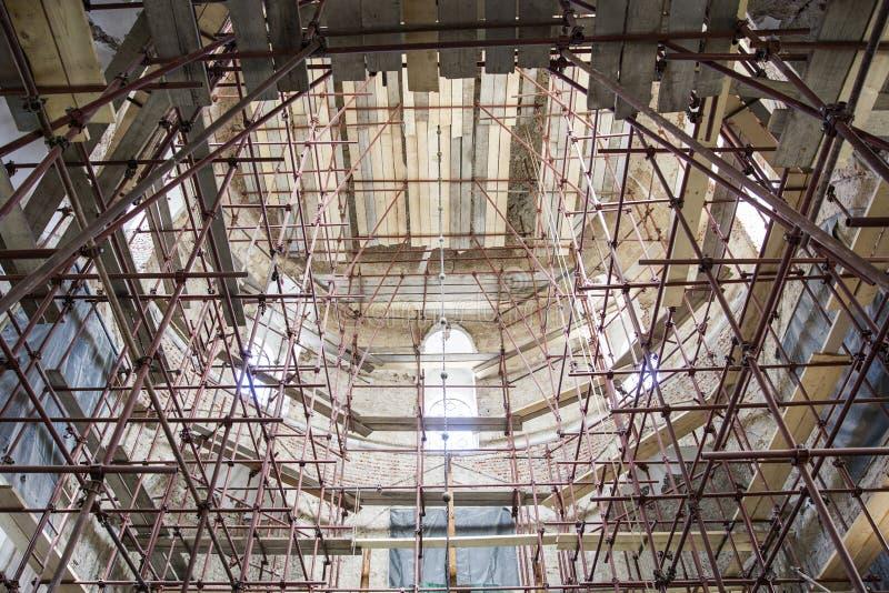 教会整修站点 免版税库存图片