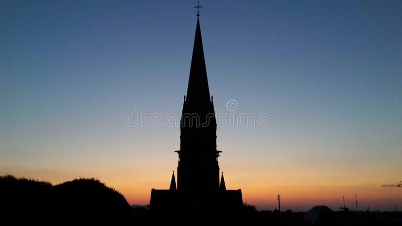 教会阴影 库存图片