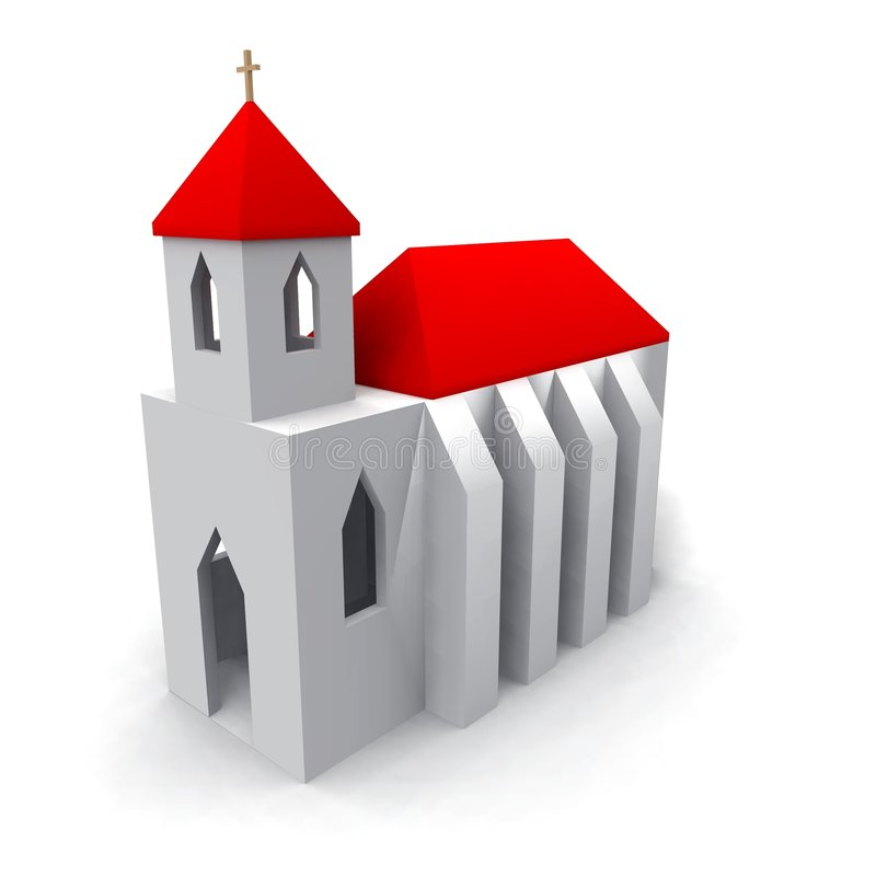 教会 皇族释放例证