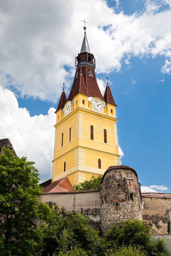 教会cristian筑堡垒于 图库摄影