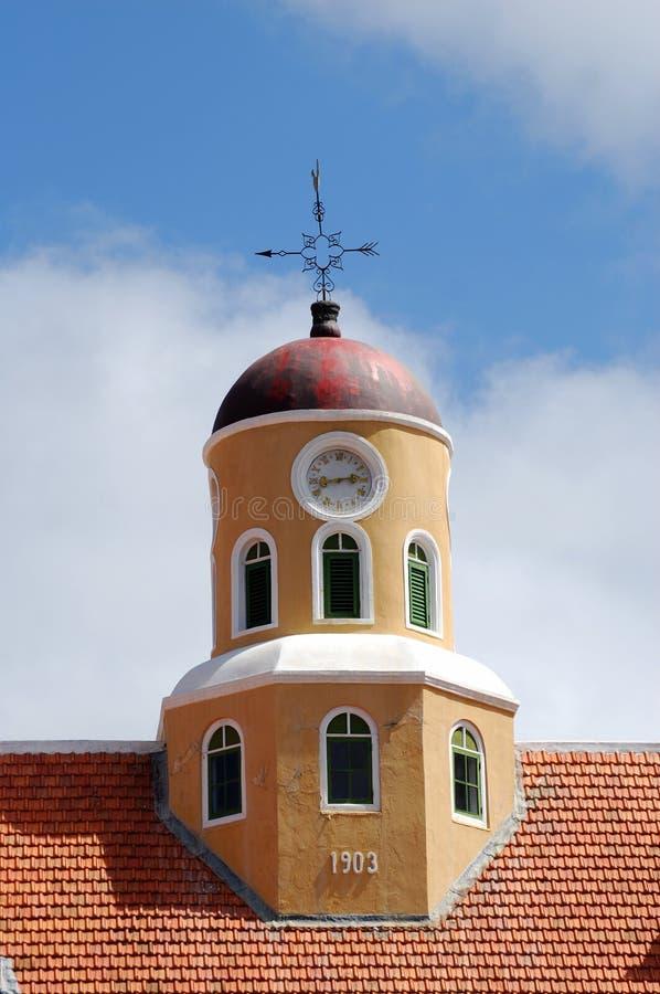 教会curacao堡垒 库存图片