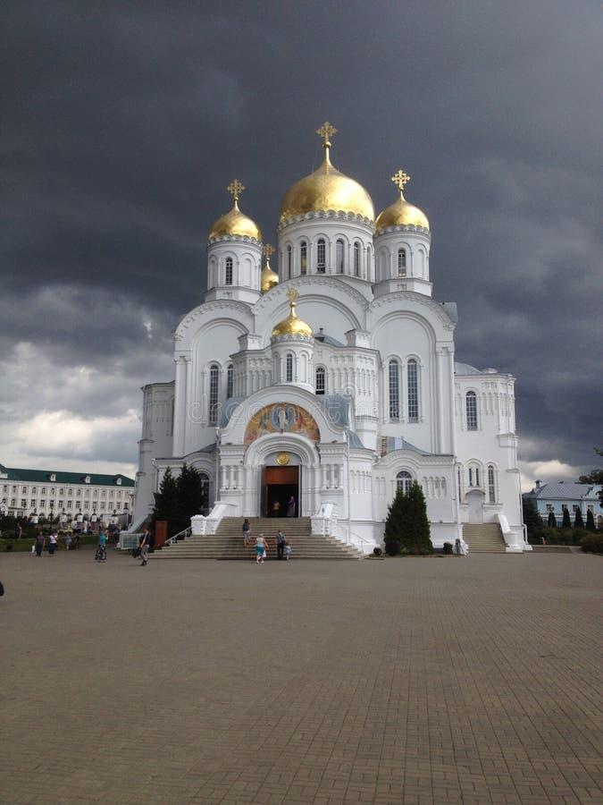 教会Diveevo梁赞地区,俄语 免版税库存图片