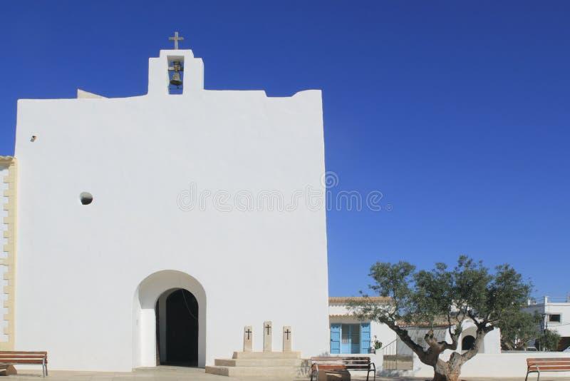 教会formentera弗朗西斯科・ javier ・圣 免版税库存照片