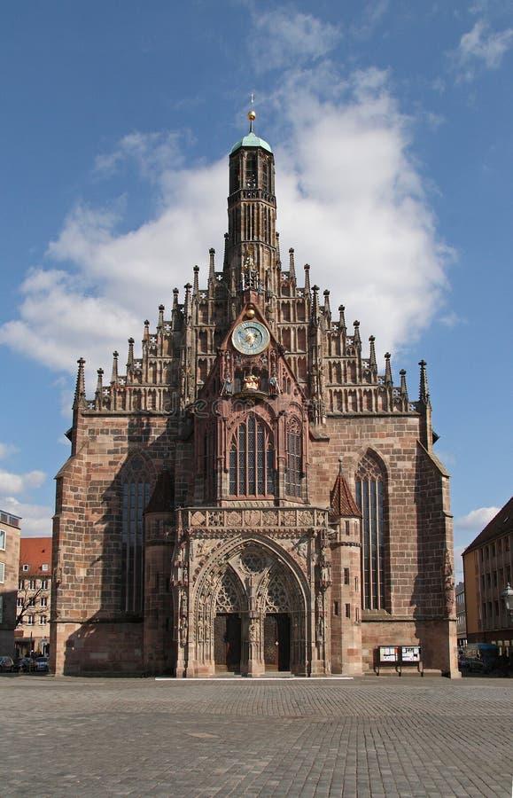 教会frauenkirche的纽伦堡夫人我们 免版税库存照片