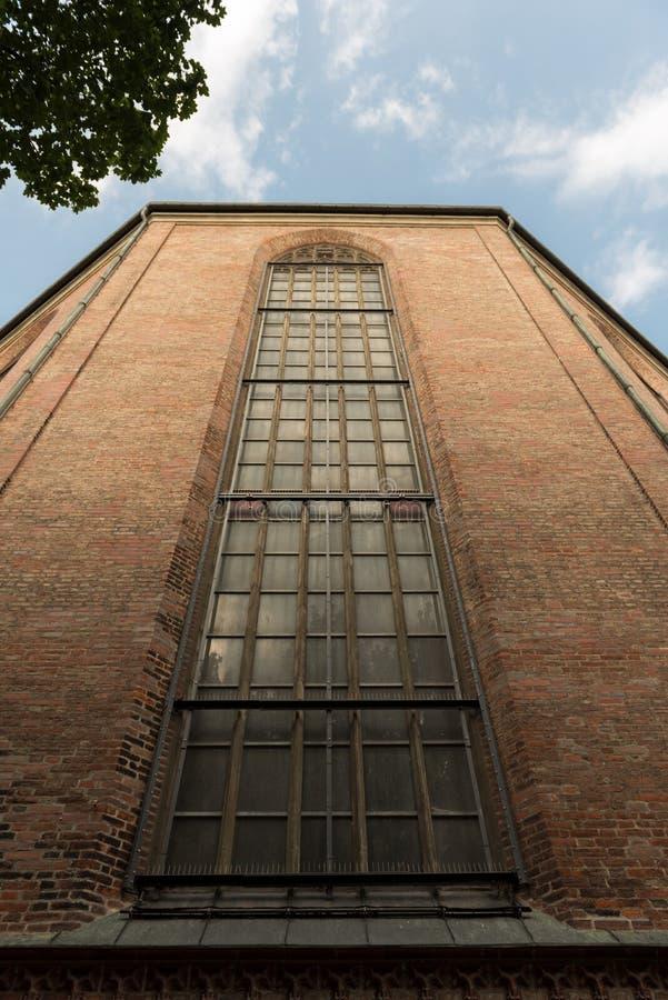 教会Frauenkirche高窗口在慕尼黑,德国 图库摄影