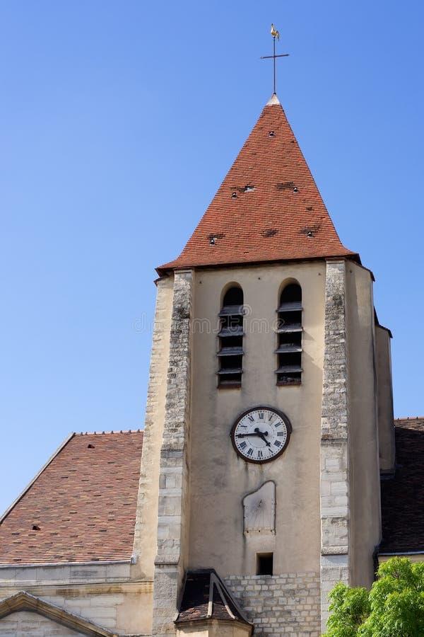 教会germain圣徒 免版税库存照片