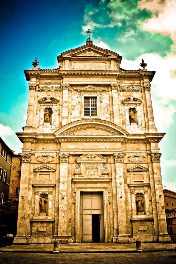 教会gimignano意大利圣 免版税库存照片
