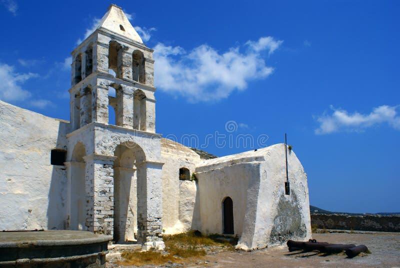 教会gree老海岛kythera 库存照片