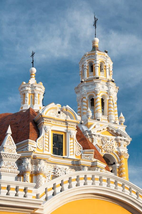 教会guadalupe墨西哥夫人我们的普埃布拉 免版税库存图片