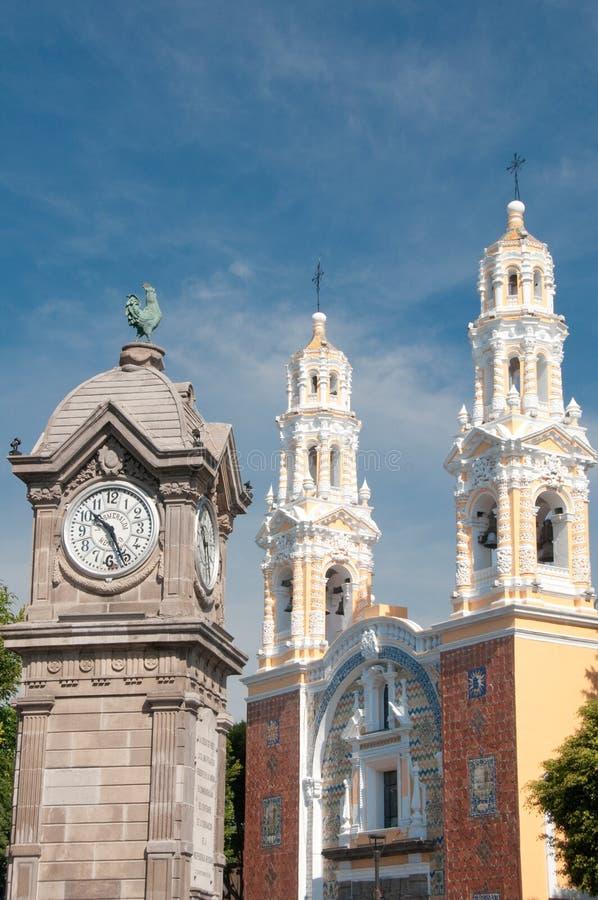 教会guadalupe墨西哥夫人我们的普埃布拉 免版税库存照片