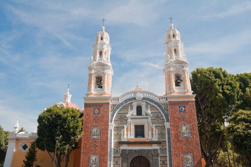 教会guadalupe墨西哥夫人我们的普埃布拉 库存照片