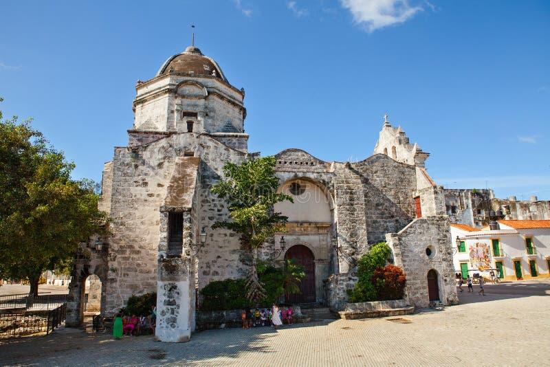 教会Iglesia de旧金山宝拉在哈瓦那,古巴 库存照片