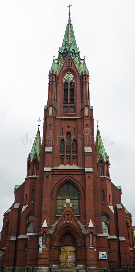 教会Johanneskirken在卑尔根,挪威 免版税库存照片