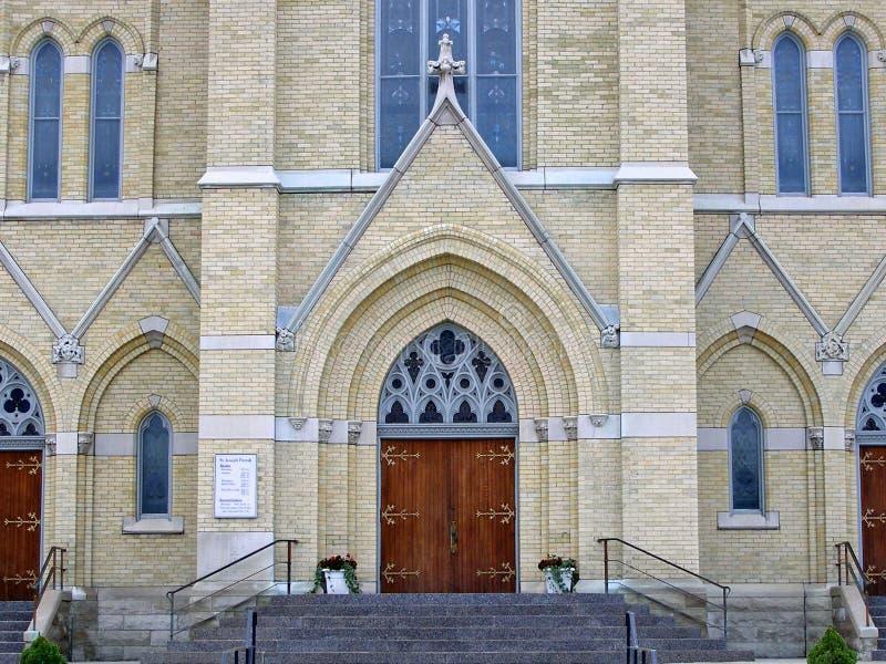 教会josephs st 库存图片