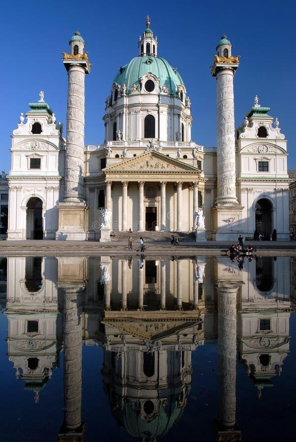 教会karlskirche维也纳 库存照片
