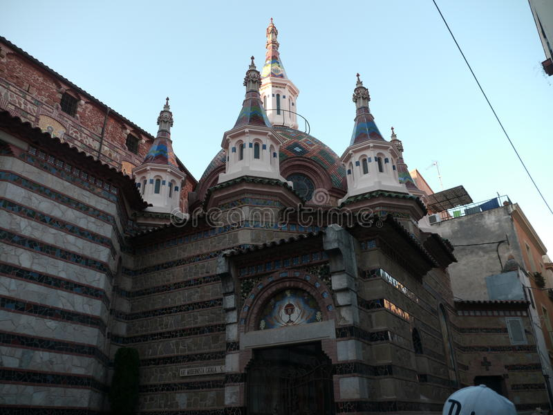 教会Lloret de 3月 图库摄影