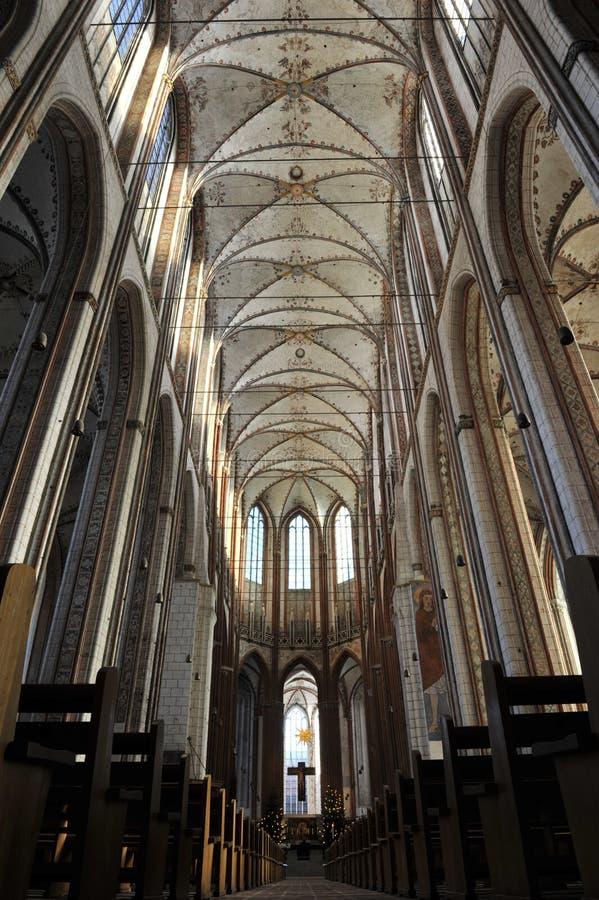 教会luebeck marienkirche玛丽s st 免版税图库摄影