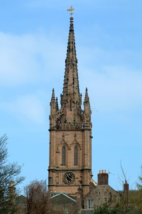教会montrose苏格兰尖顶 免版税库存照片